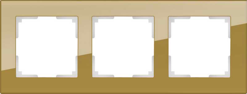 WL01-Frame-03/Рамка на 3 поста (бронзовый)
