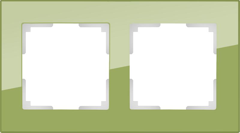 WL01-Frame-02/Рамка на 2 поста (фисташковый)