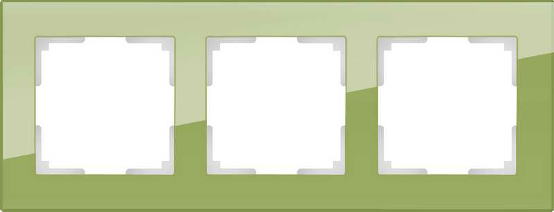 WL01-Frame-03/Рамка на 3 поста (фисташковый)