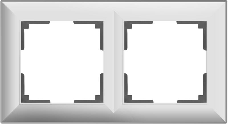 WL14-Frame-02/Рамка на 2 поста (белый)