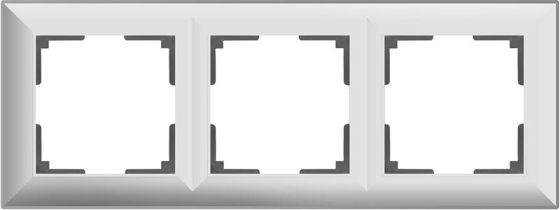 WL14-Frame-03/Рамка на 3 поста (белый)