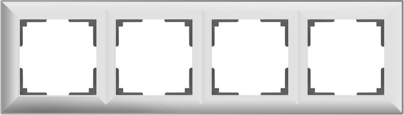 WL14-Frame-04/Рамка на 4 поста (белый)