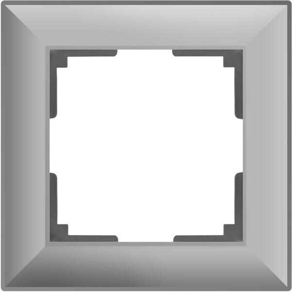 WL14-Frame-01/Рамка на 1 пост (серебряный)