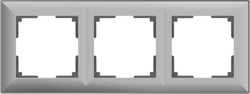 WL14-Frame-03/Рамка на 3 поста (серебряный)