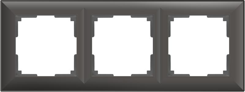 WL14-Frame-03/Рамка на 3 поста (черный матовый)