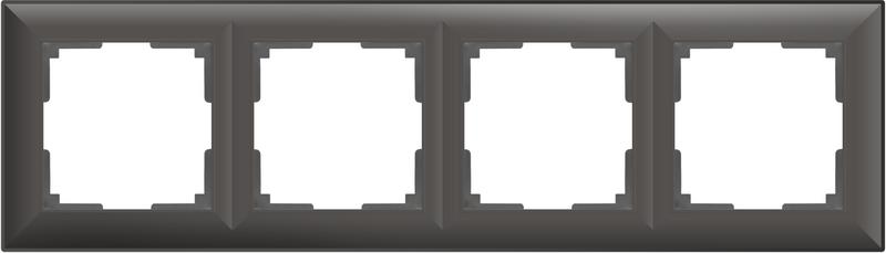 WL14-Frame-04/Рамка на 4 поста (серо-коричневый)