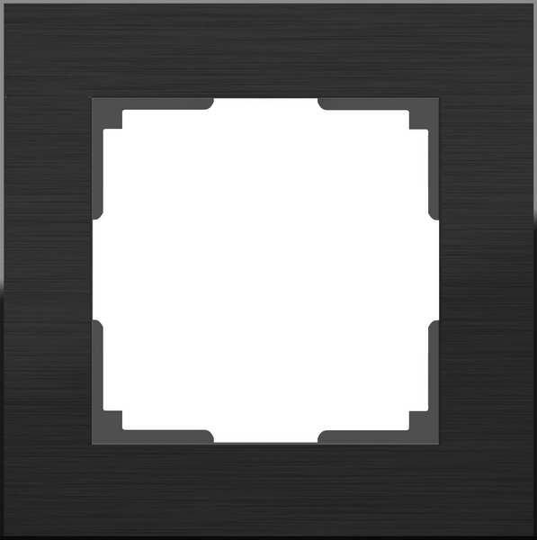WL11-Frame-01/Рамка на 1 пост (чёрный алюминий)