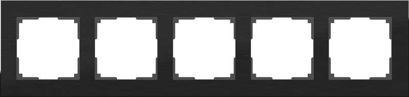 WL11-Frame-05/Рамка на 2 поста (черный алюминий)