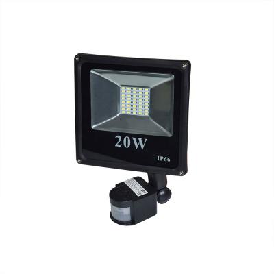 Прожектор светодиодный 20W 6000К с датчиком движения IP65