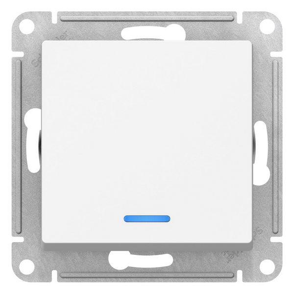 ATN000113 ATLASDESIGN 1-клавишный ВЫКЛЮЧАТЕЛЬ с подсветкой, сх.1а, 10АХ,  механизм, БЕЛЫЙ