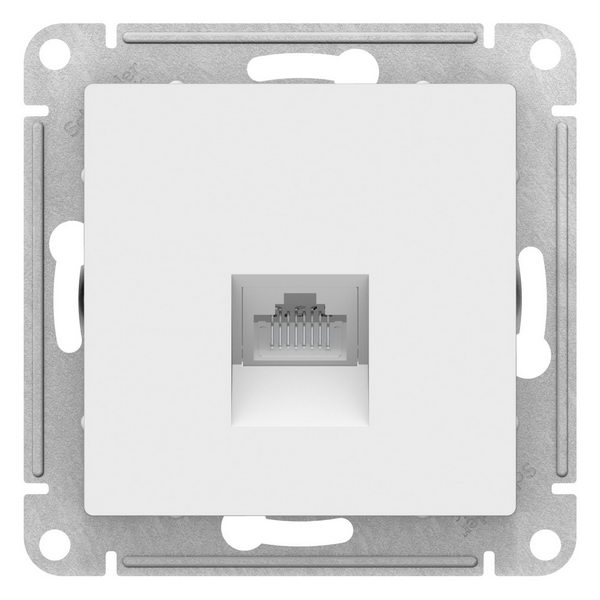 ATN000183 ATLASDESIGN РОЗЕТКА компьютерная RJ45 , механизм, БЕЛЫЙ