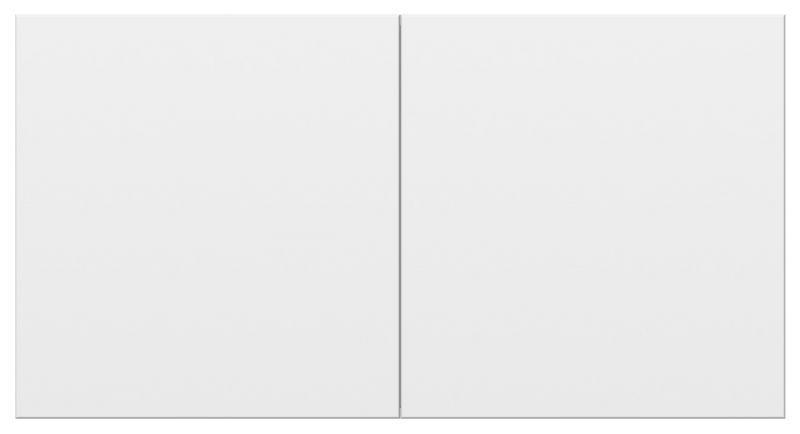 ATN000128 ATLASDESIGN РОЗЕТКА двойная с заземл.  со штор. со сдвиж. крыш., 16А, в сборе, БЕЛЫЙ