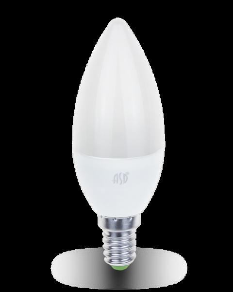 Лампа светодиодная LED- СВЕЧА-standard 7.5Вт 230В Е14 6500К 675Лм ASD