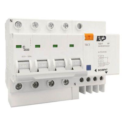 Дифференциальный автомат АД-4 4P 32А/30мА ETP