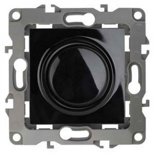 ЭРА Светорегулятор поворотно-нажимной, 400ВА 230В, Эра12, чёрный