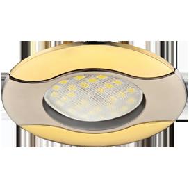 Светильник встроенный Волна MR16 Сатин-Хром/Золото