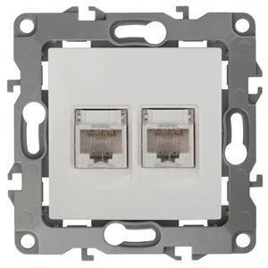 Розетка информационная двойная 2XRJ45