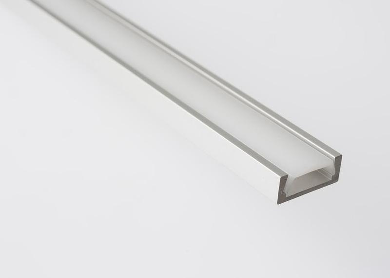 Профиль GAL-GLS-2000-7-16 (2м профиль+2м рассеиватель+2заглушки+4 скобы с шурупами 1/50)(цена за 2 м)