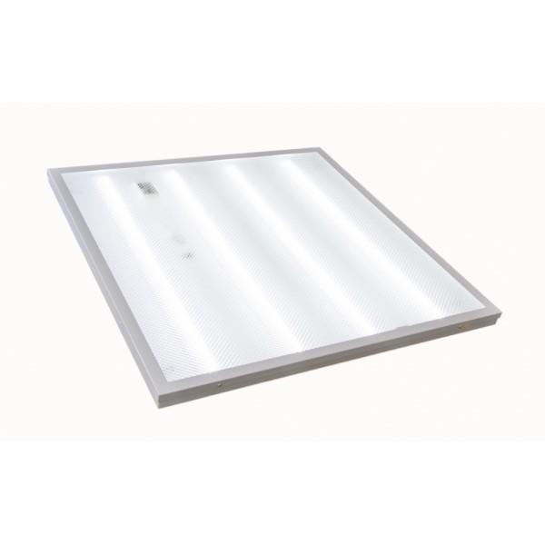 Светодиодный светильник ПРИЗМА с прозрачным рассеивателем 36W 6500K 595x595