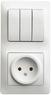 Блок: розетка + 3-кл. выкл.