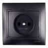 701-4242-121 Розетка б/з керамика MIRA черный бархат