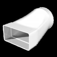Соединитель эксцентриковый прямоугольного воздуховода 55х110 с круглым d100