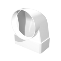 Соединитель прямоугольного воздуховода 55х110 с круглым d100