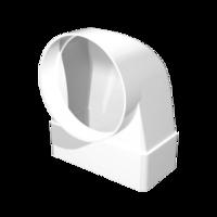 Соединитель прямоугольного воздуховода 60х204 с воздухораспредел. d125