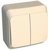 2-клавишный выключатель крем