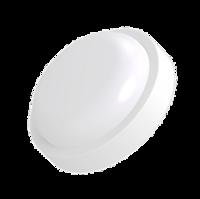 Светильник светодиодный пылевлагозащищенный  с акустическим датчиком и датчиком освещенности, 8W, серия Button, круглый, Truenergy