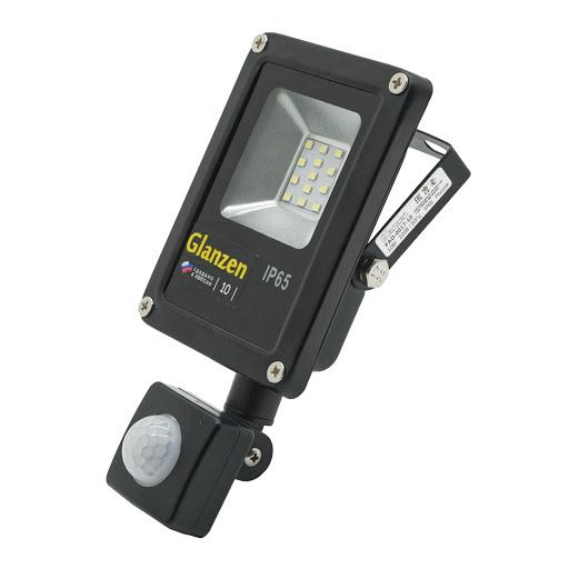 Прожектор светодиодный с датчиком движения Glanzen fad-0017-10