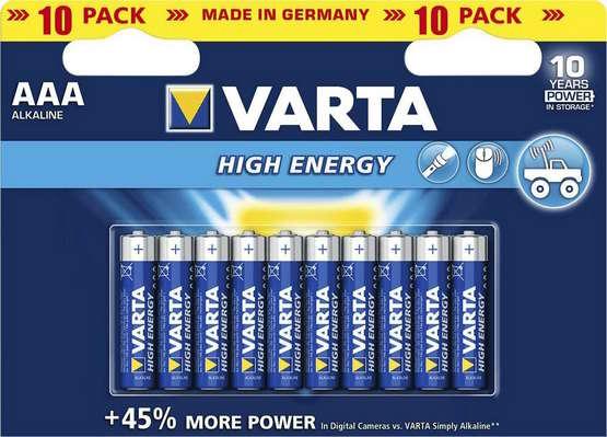 Батарейки VARTA  ENERGY LR03 (Германия)